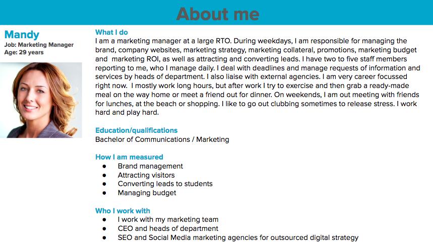 Marketing manager mandy